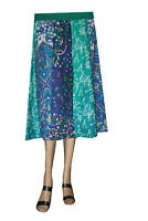 Indian 100% Cotton Women Mini Skirt Hippie Plus Size Floral Print Multi Color