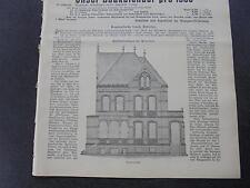 1899 Baugewerkszeitung 99 / Everloh Hannover Einfamilienhaus