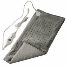 GENIANI Electric Heating Pad for Moist and Dry Heat Therapy KingSize 12x24 Gray