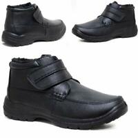 Mens Winter Boots New Casual Formal Fur Lined Warm Comfy Chelsea Work Boots Shoe