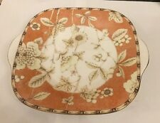 WEDGWOOD FRANCES (PEACH) CAKE / BREAD AND BUTTER PLATE 25.5CM X 22.5CM