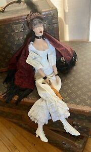 """Vintage Daddy Long Legs """"Saloon Girl"""" Doll """"Miss Lilly"""" 26"""""""