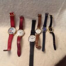 Womens Wrist Watch Lot Of 6 Repair Or Parts Timex Quartz Christmas