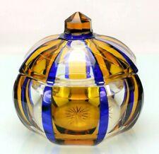 Art-Deco Glas Deckeldose Überfang Steinschönau Haida - 19311 –