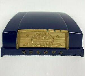 1950s Bulova SENATOR Mens Wrist Watch Presentation Original CASE BOX Vintage