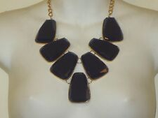Lee Angel Large Royal Blue Stone Bib Statement Necklace NIP $110