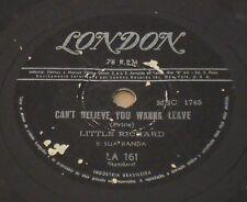 """LITTLE RICHARD 1958 Can´t Believe You Wanna Leave Unique! 10"""" 78 RPM BRAZIL"""