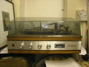 VINTAGE CIVIC AUDIO RECORD PLAYER TURNTABLE SPARES / REPAIR
