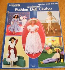 """Leisure Arts Fashion Doll Clothes #268 Crochet 11.5"""" Dolls Guc 12 Outfits Guc"""