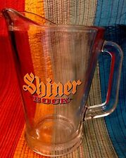 Vintage Shiner Bock Beer Glass Pitcher Bar Mancave Garage 9""
