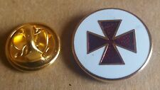 preceptory high knight templar lapel badge freemason masonic A