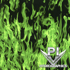Hydrographics Film Hydro Dipping Water Transfer Print Film Green Flames Ll136