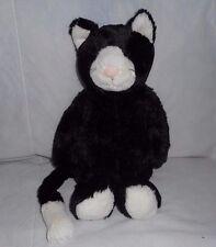 "12"" JELLYCAT BASHFUL BABY KITTY CAT TUXEDO BLACK SOFT STUFFED ANIMAL PLUSH TOY"