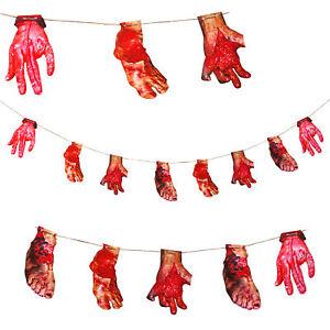 12 Deko Swirls Spiralen Halloween Irrenhaus Horror Folter Asylum Bloody Blut