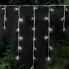 LV062392W 240 Supabrights Snowing Icicles White LED Lights