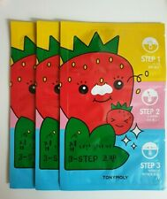 TONYMOLY A Strawberry Seed Who Has Left Home  Three-step nose pack (3 sheets)