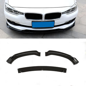 For BMW F30 328i 335i 320i 13-18 Front Bumper Lip Spoiler Splitter Glossy Black