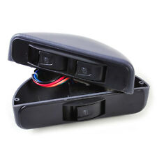 Universal 3 Rocker Switch Kit Window Lock Power 12V for Car Front two Doors Grey