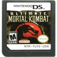 DS Cartridge Mortal Kombat Card Card US Version English NIntendo DS 3DS 2DS