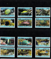 Penrhyn Northern Cook Islands 2013 MNH Tropical Fish of Pacific 12v Set Moray Ku