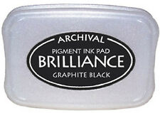 BRILLIANCE Archival Pigment Ink Pad - GRAPHITE BLACK