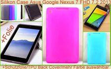 Cover Tasche Etui Case Google Nexus 7 FHD 7.2 2013 TPU Bumper Schutz hülle Folie