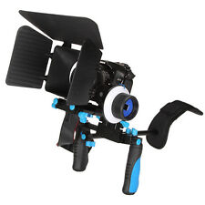 Hand Grip+Shoulder Mount Rig+Follow Focus+Matte Box For DSLR Canon 5D2 60D 7D 1D