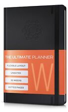 Undated 2019 Planner w/Pen Holder | Daily, Weekly, Monthly Personal Organizer |