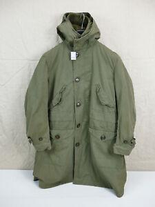#F US ARMY WW2 Cold Winter Parka Overcoat D-1 SHELL PARKA Medium ALPACA LINER
