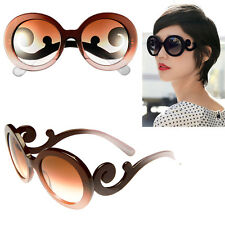 UNIQUE BAROQUE WOMENS RETRO GLASSES BROWN DESIGNER UV PROTECT SUNGLASSES Z 172