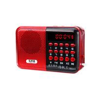 Mini Portable Radio LCD Digital FM USB TF MP3 Player Speaker Rechargeable