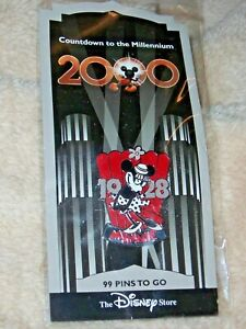 """Disney Countdown to the Millennium Pin Series """"1928 MINNIE MOUSE"""" NEW #100"""