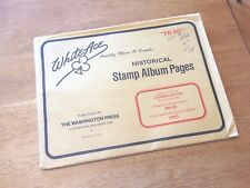 White Ace Album Pages Comm Plate Block Supplement 1993 PB-45 Never Used  |