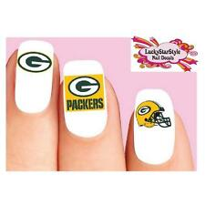Waterslide Nail Decals Set of 20 - Green Bay Packers Football Assorted