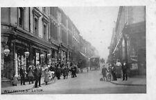 Wellington Street - LUTON - Beds - 1904 Original Postcard. Squared Circle (84T)