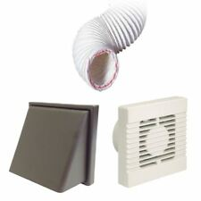 Manrose Extractor Timer Fan Brown Hooded Vent Ducting Kit for Kitchens Bathrooms