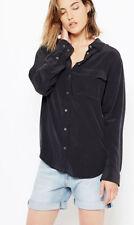 $208 Equipment Slim Signature Silk Shirt Black XXS/XS/S/M/L