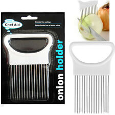 Chef-Aid Onion Holder Hand Held Easy Slicer Cutter Potato Wedges Kitchen Tool