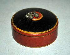 Old Antique Wooden Crafted Red & Black  Laquer Painted Kum Kum Powder Box