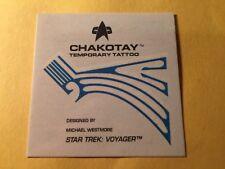 1995 Star Trek VOYAGER Series 1 trading cards- CHAKOTAY Temporary Tattoo Insert.