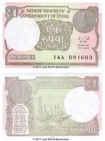 India 1 Rupee 2015  P-108 Banknotes UNC