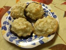 Italian Coconut Macaroons dipped in Chocolate