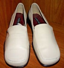 Westies Women's 7.5 M Leather Cream Color Loafer Slip On Shoes