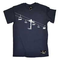 Ski Lift T-SHIRT Snowboard Sport Winter Snskiing Skis Skier birthday funny gift