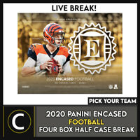 2020 PANINI NATIONAL ENCASED FOOTBALL 4 BOX BREAK #F686 - PICK YOUR TEAM
