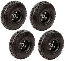 Farm And Ranch 10 Inch No Flat Tire 4-Pack Garden Airless Cart Wheel Black