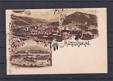 Alte AK Gruss aus Mürzzuschlag Correspondenz Karte ungelaufen
