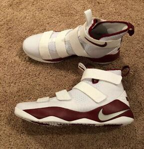 NEW Sz 12 Men's Nike Lebron Soldier XI TB Basketball White/Team Red 943155-100