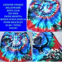 BILLIONAIRE BOYS CLUB TIED DIED KALEIDOSCOPE BOARD SWIM GYM SHORTS TRUNKS-SZ=L