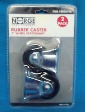 "NORGE RUBBER CASTER 2"" WHEEL STATIONARY  2 PACK      10026198"